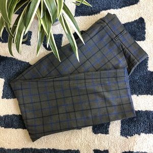 Gap Slim Cropped Plaid Trousers